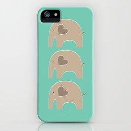 Turquoise Safari Elephant 2 iPhone Case