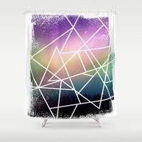 night sky Shower Curtains featuring night sky by Cat Milchard