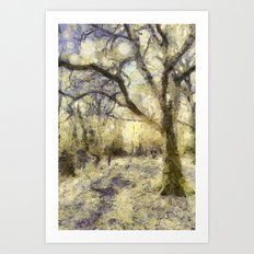 Summertime Forest Van Gogh Art Print