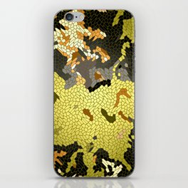 Abstract leaves mosaik iPhone Skin