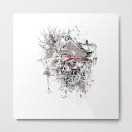Skull Pirate - arrr, matey! Metal Print