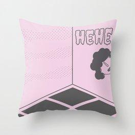 hehe Throw Pillow