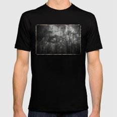Flight Scratched Black Mens Fitted Tee MEDIUM