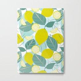 Lemons and Slices Metal Print