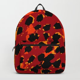 Cheetah Spots in Red, Orange and Yellow Backpack