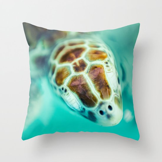 Cute Throw Pillow Society6 : Cute Little Sea Turtle Throw Pillow by FB Movercrafts Society6