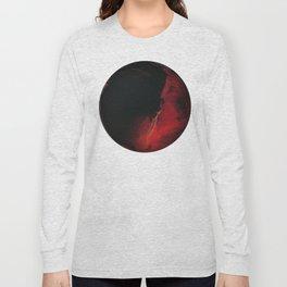 Black Lava on White Long Sleeve T-shirt