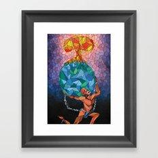 Atlas Died Framed Art Print