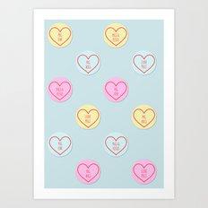 Pug Hearts Art Print