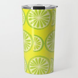 Lime Pattern Travel Mug