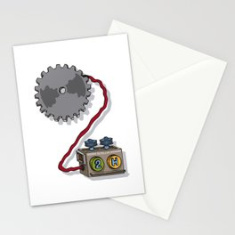 MACHINE LETTERS - 2 Stationery Cards