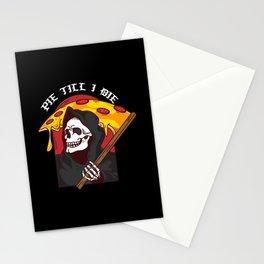 Mens Pie Till I Die Shirt Funny Pizza T-Shirt I Grim Reaper Pizza Pie Till I Die Shirt Stationery Cards