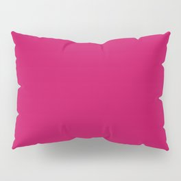 Crimson Red Solid Matte Colour Palette Pillow Sham