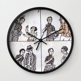 """""""Many Ways of Doing Business."""", from Shanghai Manhua issue Wall Clock"""