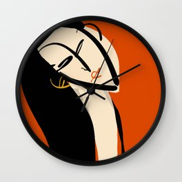The girl in red Wall Clock