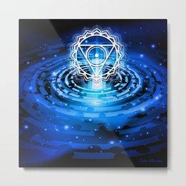 Cosmic Throat Chakra Tapestry Metal Print