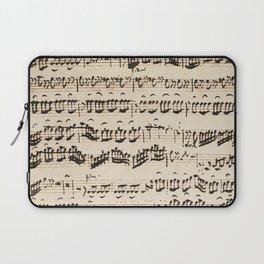 Johann Sebastian Bach (1685 – 1750) original music sheet Laptop Sleeve