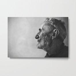 Elderly man Metal Print