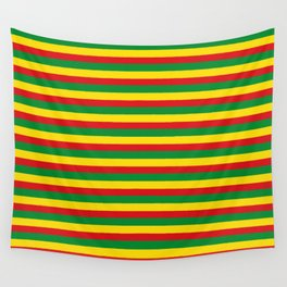 colorful rasta stripe pattern design Wall Tapestry