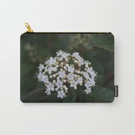 Viburnum tinus flowers and buds Carry-All Pouch