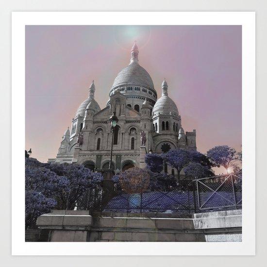 sacre coeur Paris  Art Print