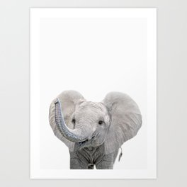 Elephant Calf Art Art Print
