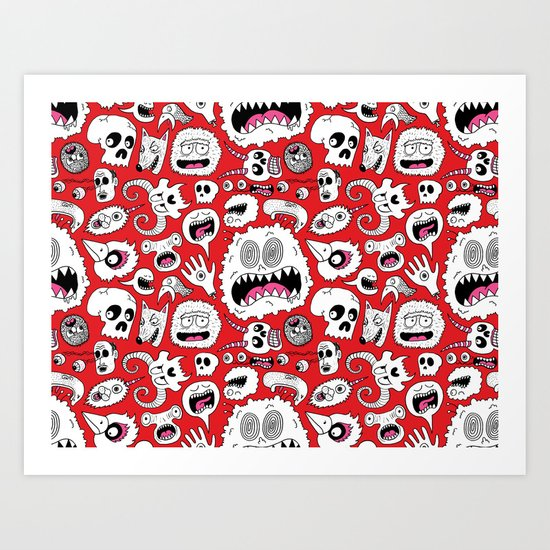 Another Monster Pattern Art Print