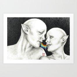 ~ Kiss Kiss ~ Art Print