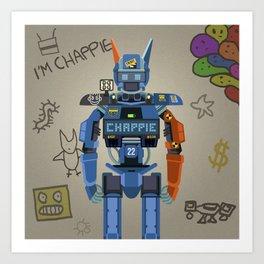 Chappie vector fanart Art Print
