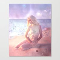 daenerys Canvas Prints featuring Contemplate by SuzanneCarter