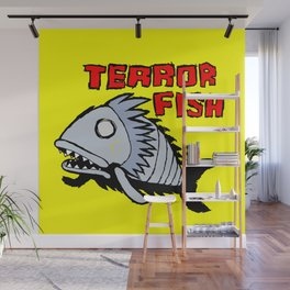 Terror fish Wall Mural