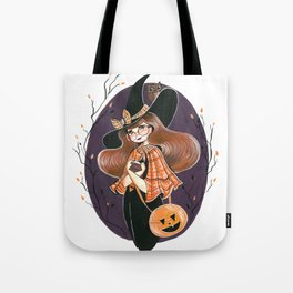 Vintage School Witch Tote Bag