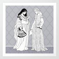roman Art Prints featuring Roman Sisters by Tom Tierney Studios