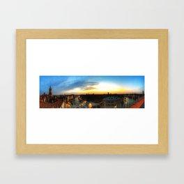 Sunset onthe Grand Canal Framed Art Print