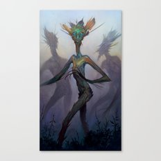 Twisted Wisp Eaters Canvas Print