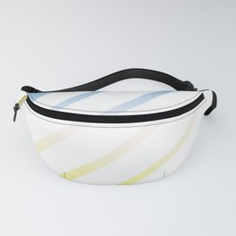 Gradient White Stripes Fanny Pack