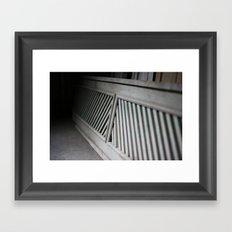 woodwork Framed Art Print