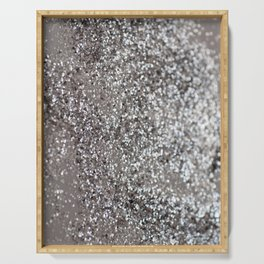 Sparkling SILVER Lady Glitter #1 #decor #art #society6 Serving Tray