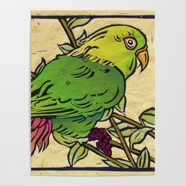 Parrot Linocut Poster