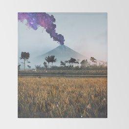 Volcano Eruption Throw Blanket