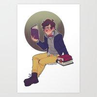 preppy Art Prints featuring preppy dipper by monsternist