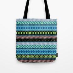Together Again - tribal geometrics Tote Bag