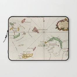 Vintage Turks and Caicos Map (1764) Laptop Sleeve