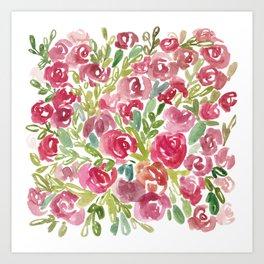 Maya's Garden Watercolor Painting Art Print