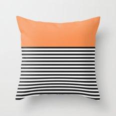 STRIPE COLORBLOCK {ORANGE} Throw Pillow