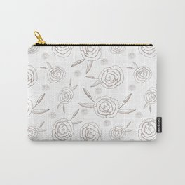 Paris Roses in White and Pink Carry-All Pouch