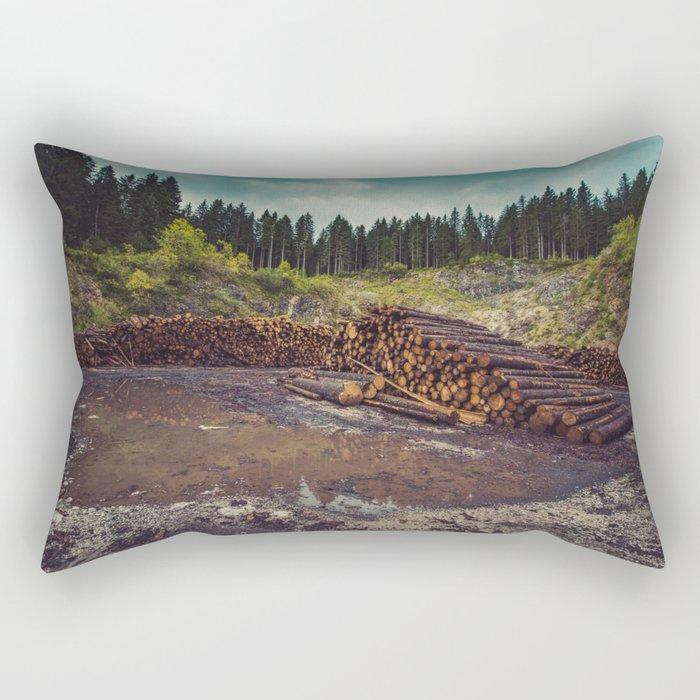 Logs Rectangular Pillow