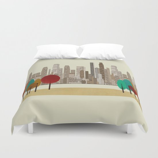 los angeles city Duvet Cover
