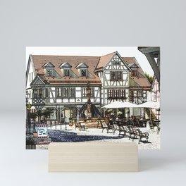 Bavarian countryside Mini Art Print