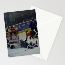 Dive for the Goal - Ice Hockey Stationery Cards